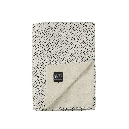 mies & co soft teddy dekentje cozy dots offwhite