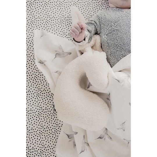 mies & co fitted sheets cradle cozy dots offwhite 40x80 cm
