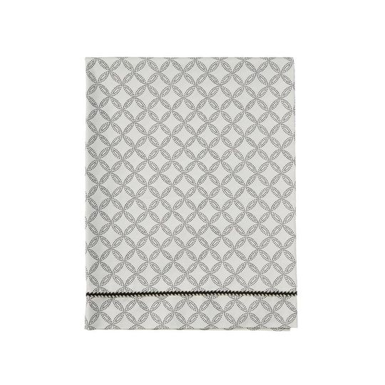 mies & co flat sheet cradle geo circles offwhite
