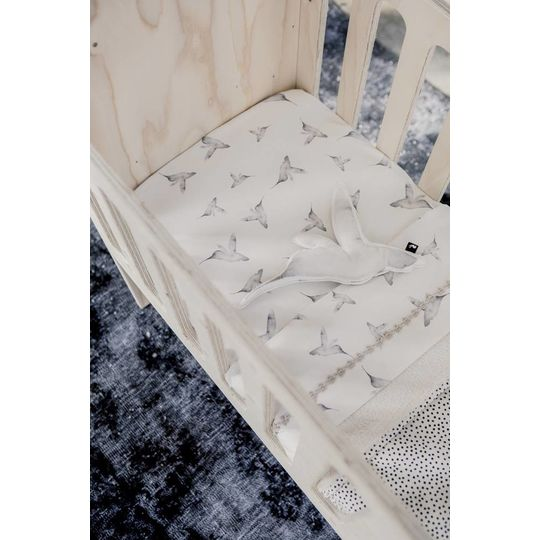mies & co flat sheet cradle little dreams offwhite
