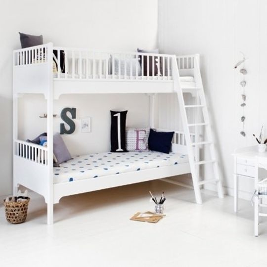 oliver furniture seaside bunk bed white slant ladder
