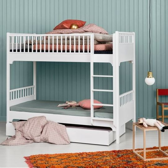 oliver furniture seaside stapelbed wit rechte trap