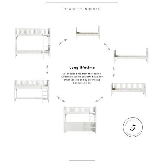 oliver furniture seaside loft bed white