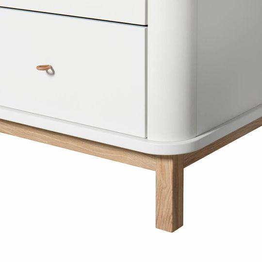 oliver furniture wood dresser 6 drawers oak / white