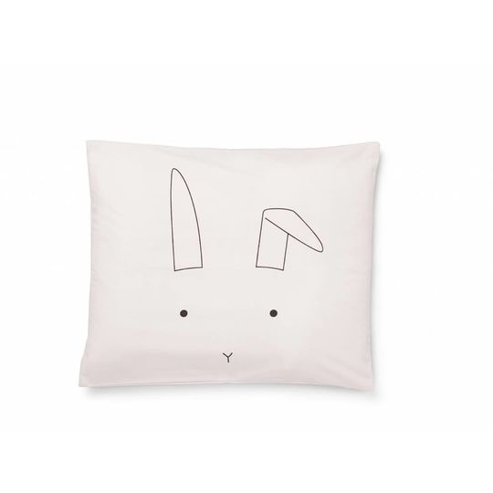 liewood duvet cover rabbit sweet pink - baby