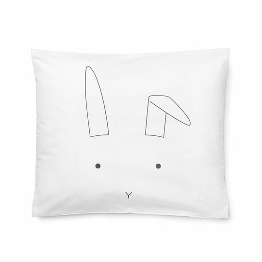 liewood duvet cover rabbit crisp white - baby