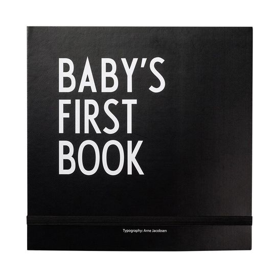 design letters baby's first book zwart