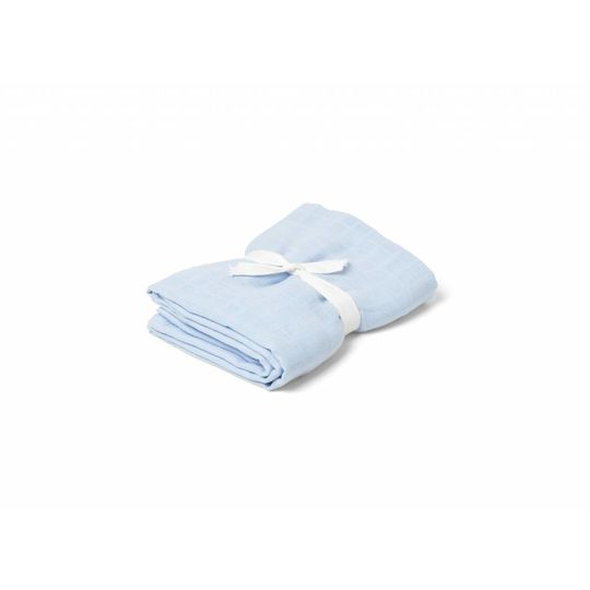 liewood molly swaddle solid baby blue 120x120
