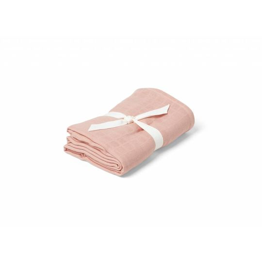 liewood molly swaddle solid coral pink 120x120