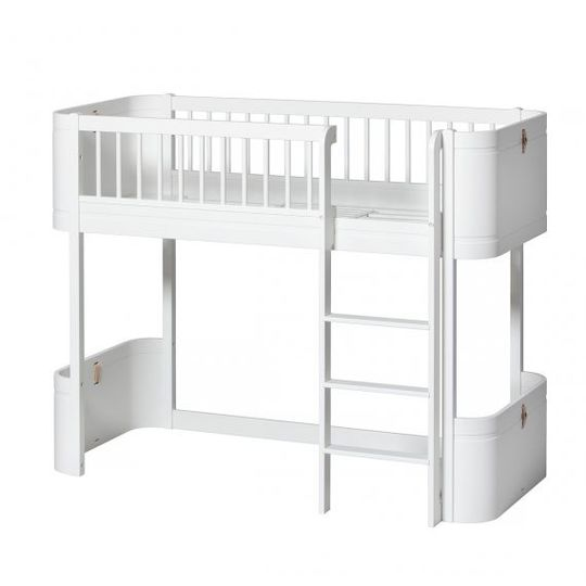oliver furniture wood mini+ cot / bed 0-9 white