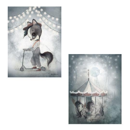 mrs mighetto 2 pack carousel / mr william