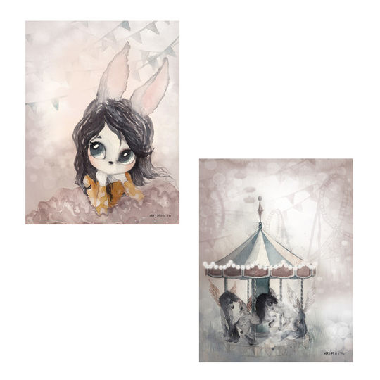 mrs mighetto 2 pack lola / lost carousel 18x24