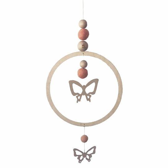 loullou mobile / wall hanger vlinder