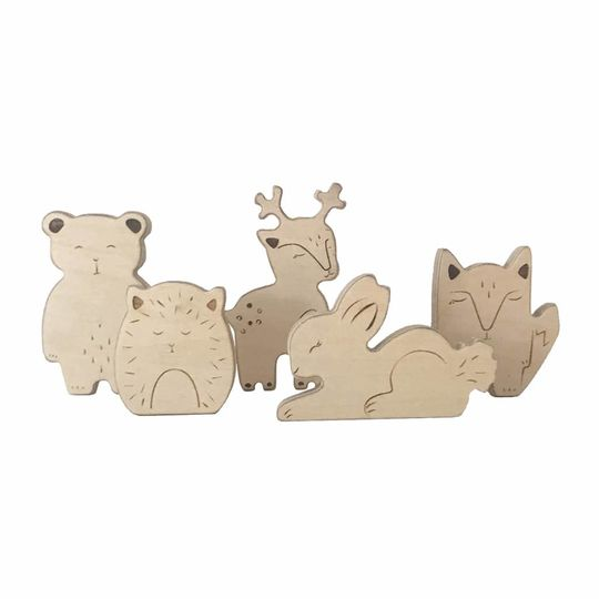 loullou wooden animals