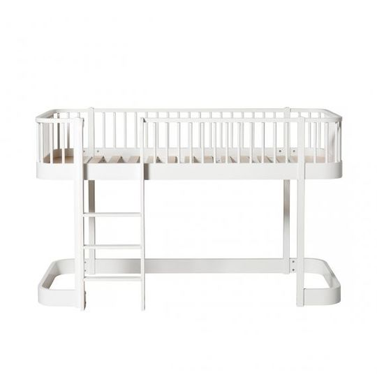 oliver furniture wood collection low loft bed white