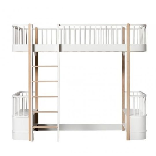 oliver furniture wood loft bed wit / eiken