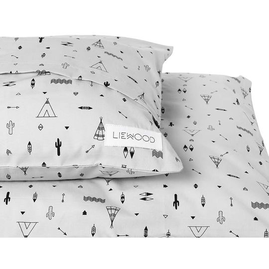 liewood duvet cover paperplane dumbo grey - junior - Copy