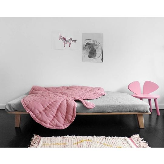 nofred leaf blanket / play mat rosa
