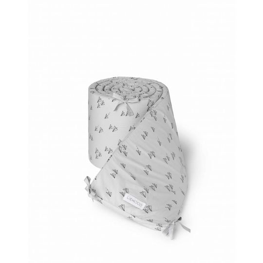 liewood sally bed bumper paperplane dumbo grey
