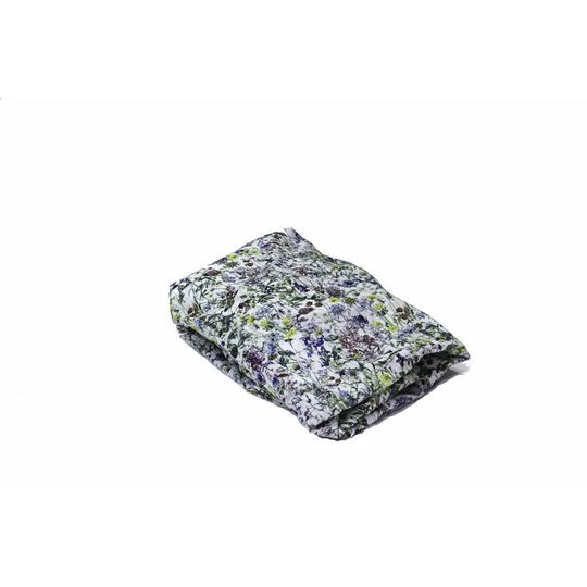 super carla fitted sheet baby wild flowers blue 60x120