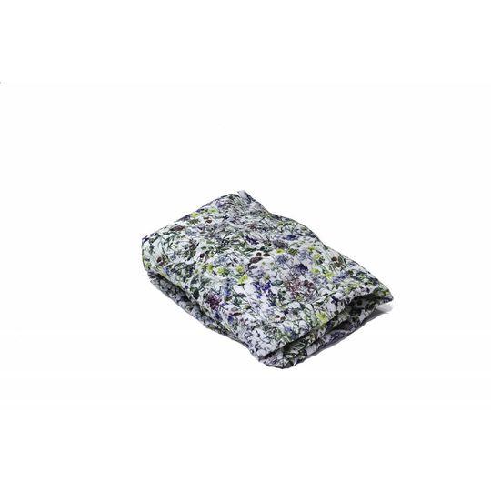 super carla hoeslaken baby wild flowers blauw 60x120