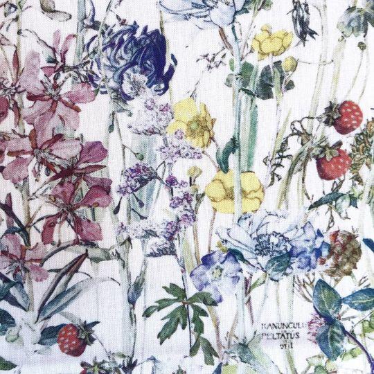 super carla hoeslaken junior wild flowers blauw 70x140