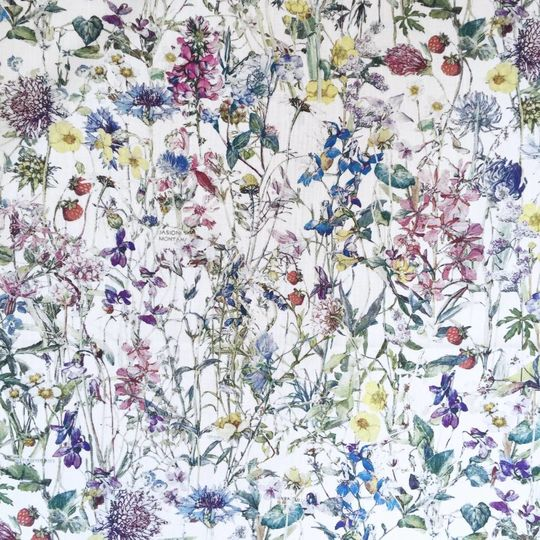 super carla hoeslaken junior wild flowers blauw 70x140