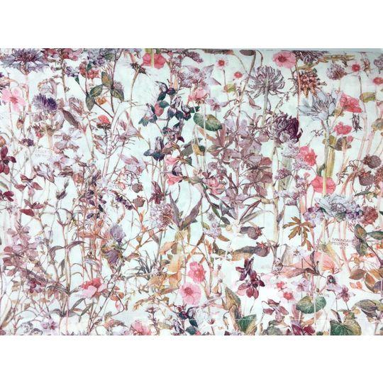 super carla dekbedovertrek wild flowers rose adult 135x200