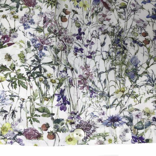 super carla duvet cover wild flowers blue adult 135x200