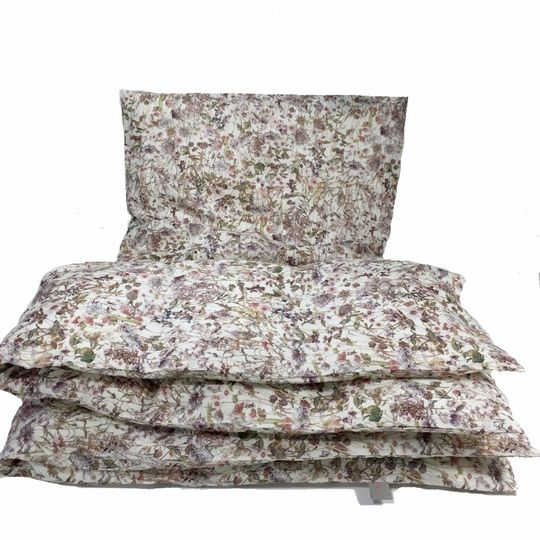 super carla duvet cover wild flowers rose junior 100x140