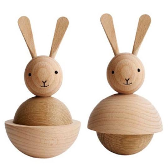 OYOY rabbit naturel wooden figure