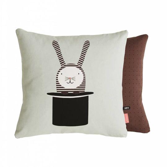 OYOY rabbit in a hat cushion 40x40