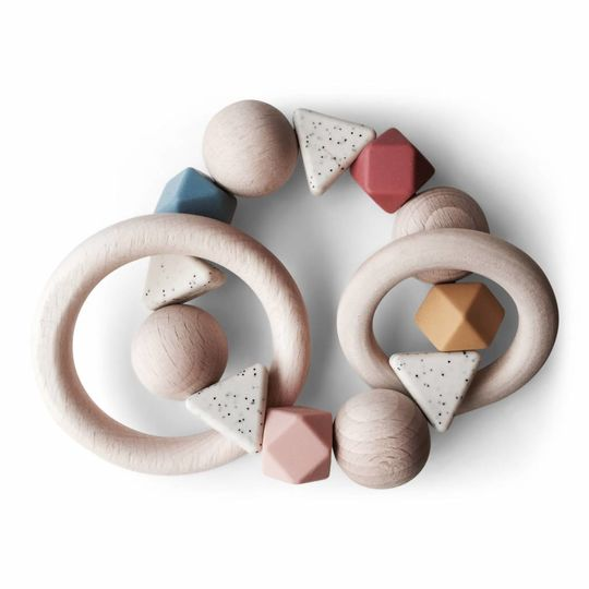 play at slaep rattle / teether bow collection earth