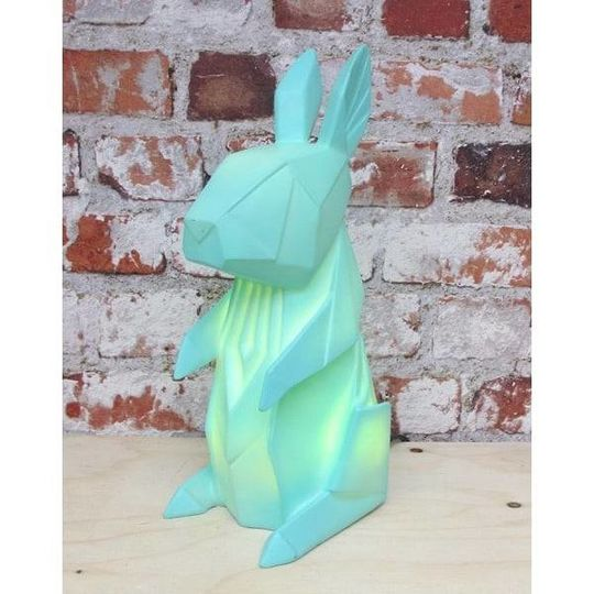 disaster designs origami rabbit lamp mint - 30%