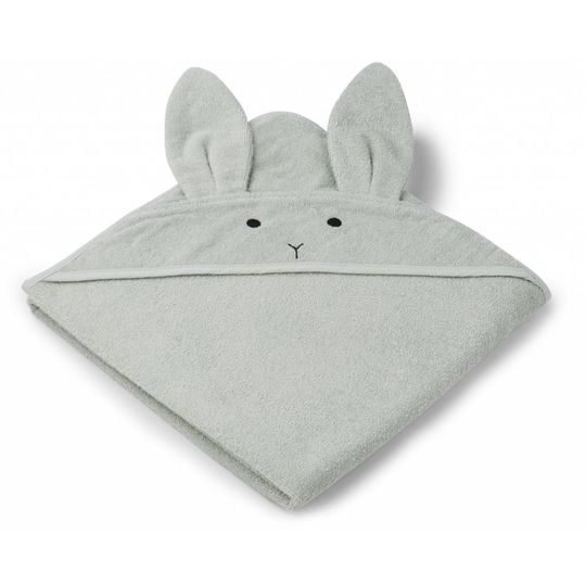 liewood towel rabbit dusty mint 100x100