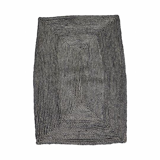 house doctor rechthoekig vloerkleed structure zwart (130x85 cm)