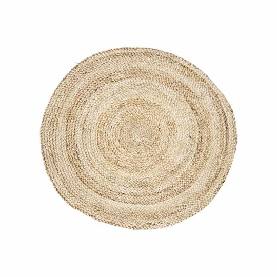 house doctor round rug structure nature (Ø100 cm)