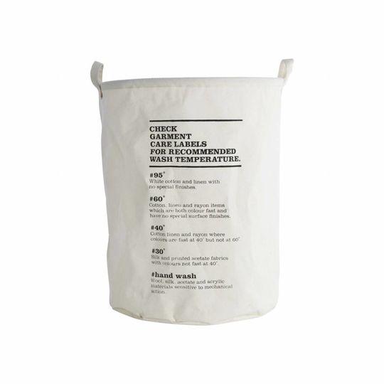 house doctor laundry bag / storage bag wash instructions  Ø40cm