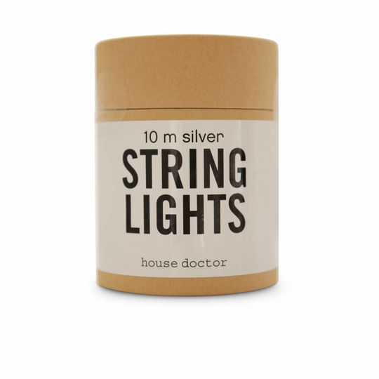 house doctor string of lights - 10M - 80 bulbs - silver