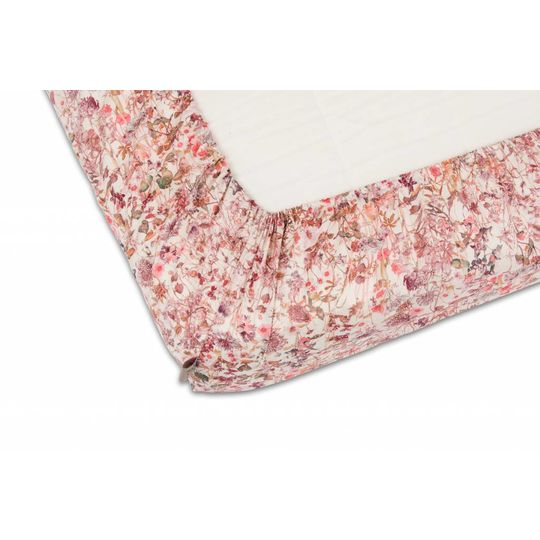super carla hoeslaken junior wild flowers roze 70x140