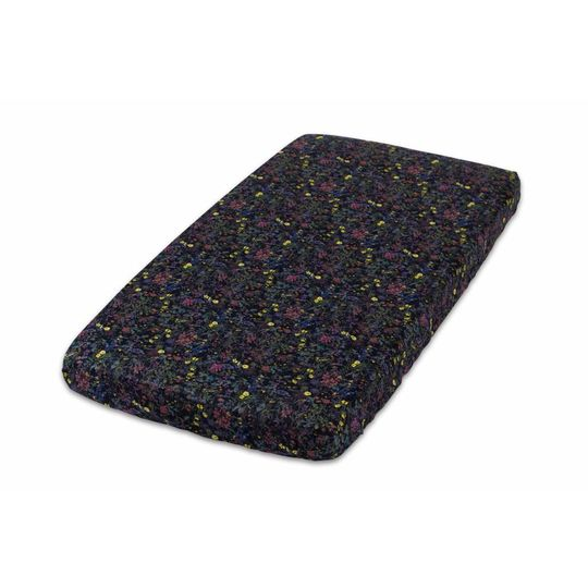 super carla fitted sheet baby wild flowers 60x120 black