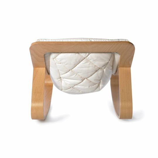 charlie crane  bouncer / baby rocker levo beech with gentle white cushion