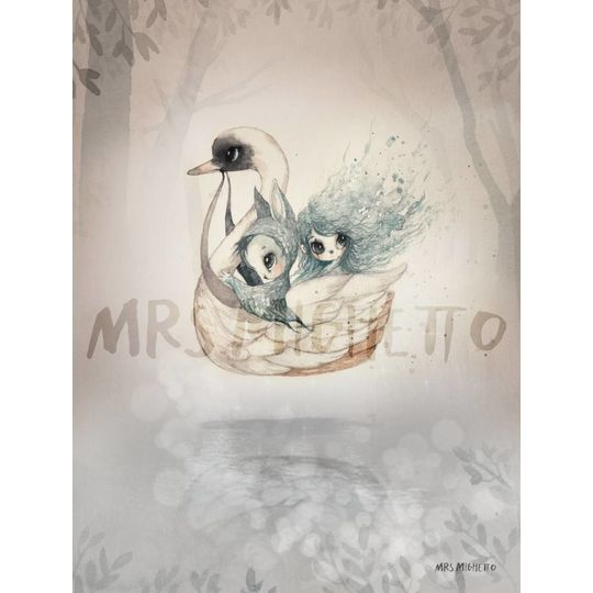 mrs mighetto 2 pack 18x24 bianca / swan boat