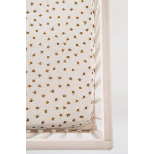 rylee + cru  fitted sheet baby cot sunrise print