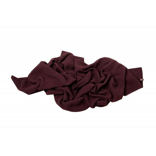garbo&friends burgundy red muslin  swaddle 110x110