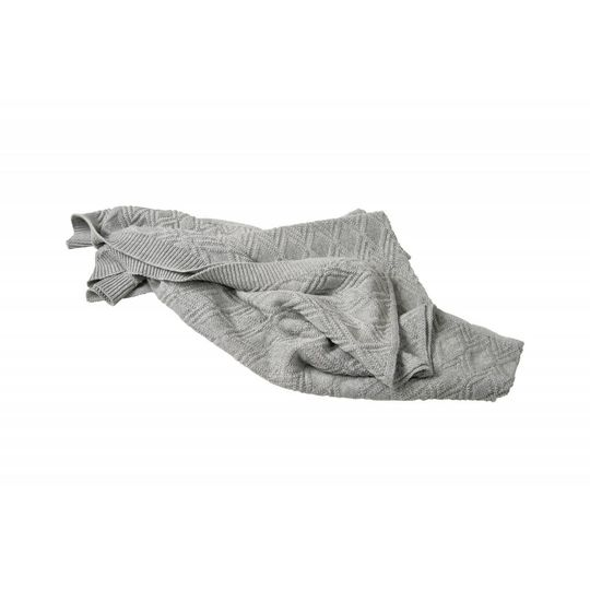garbo&friends ollie grey cotton blanket