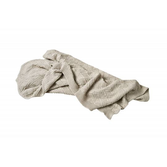 garbo&friends ollie sand cotton blanket