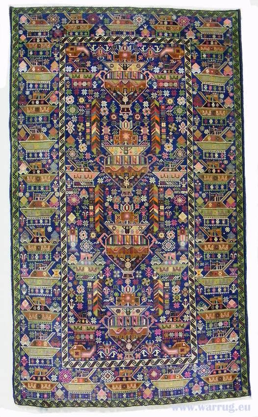 235x137 cm  original  Kriegsteppich aus Afghanistan – handgeknüpft alikhoja Nr:22