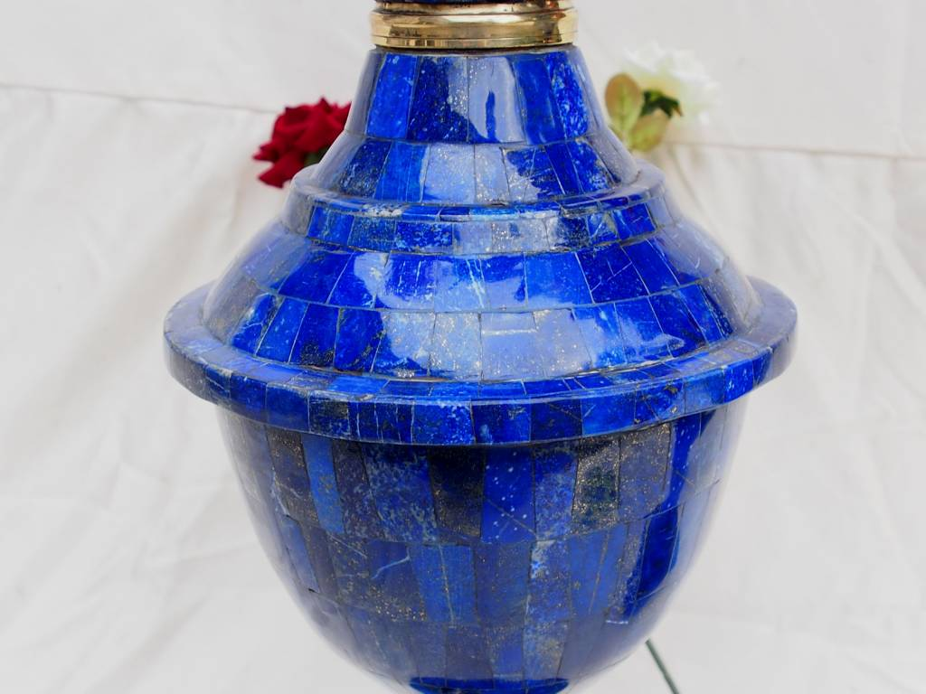 57 cm Exclusive Bodenvase Lapis Lazuli XXL