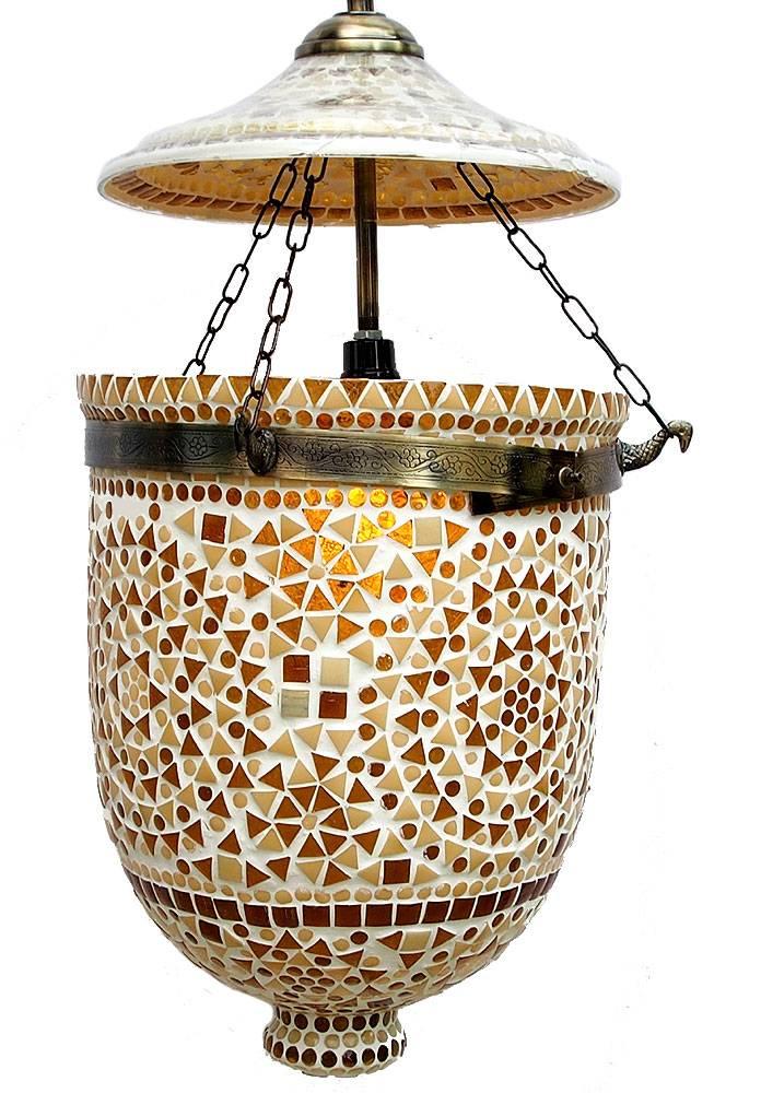 Mosaik Bell Jar Glas lampe Nr:9